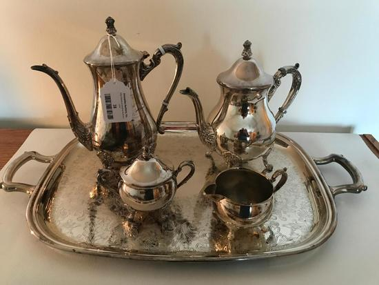 """Leonard Silverplate"" 5-Piece Tea Service"