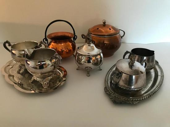 Group Of Copper & Silverplate Items