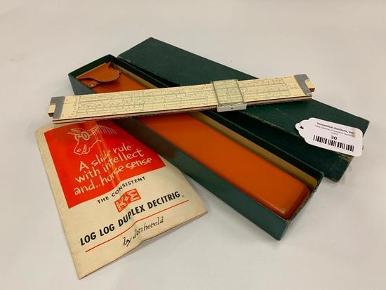 """Vintage """"K-E"""" Slide Rule In Original Box"""