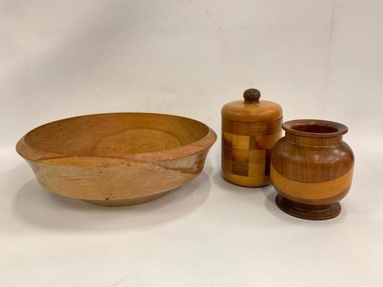 Wood Turned Bowls And Vase