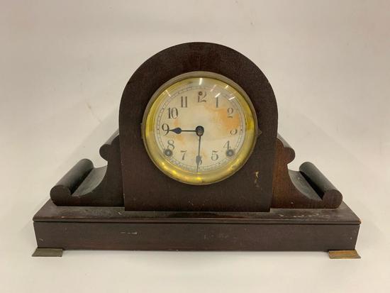 Vintage Sessions Mantle Clock W/Pendulum & Key