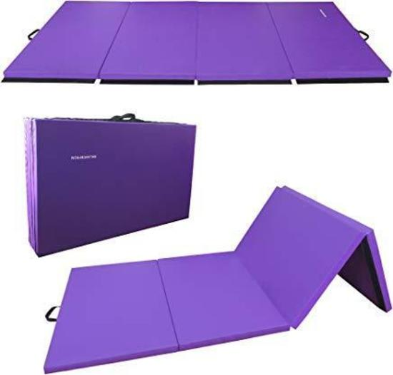 "BalanceFrom GoGym All-Purpose 4'x10'x2"" Extra Thick High Density Anti-Tear Gymnastics Mat"
