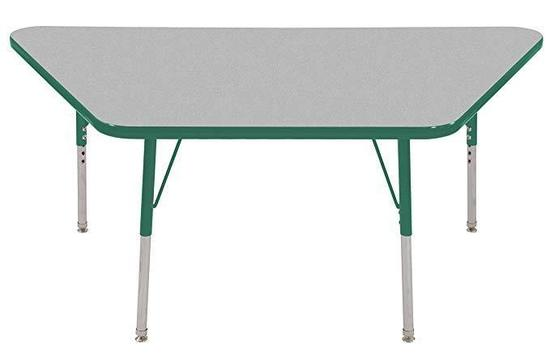 "ECR4Kids Mesa Thermo-Fused 30"" x 60"" Trapezoid School Activity Table"
