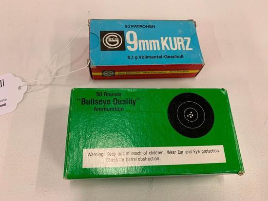(2) Boxes 9mm Ammo (Kurz & Accuracy Brands)