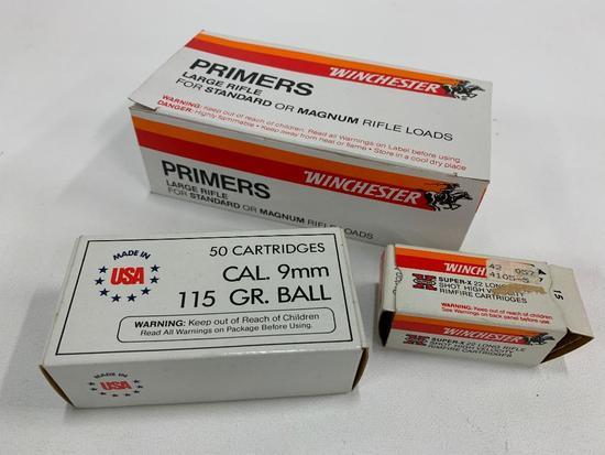 Box Winchester Primers & 9mm Balls