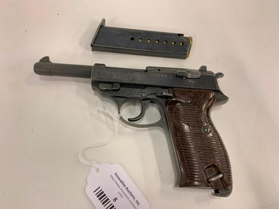 Walther P38 9mm Pistol W/1 Clip