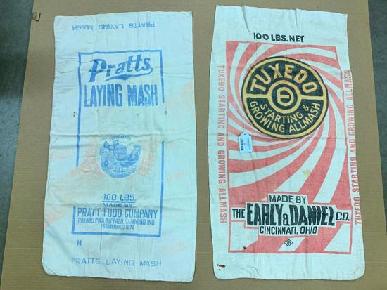 (2) Vintage 100 Lb. Feed Sacks