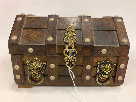 "Wooden ""Pirates Chest"" Jewelry Box"