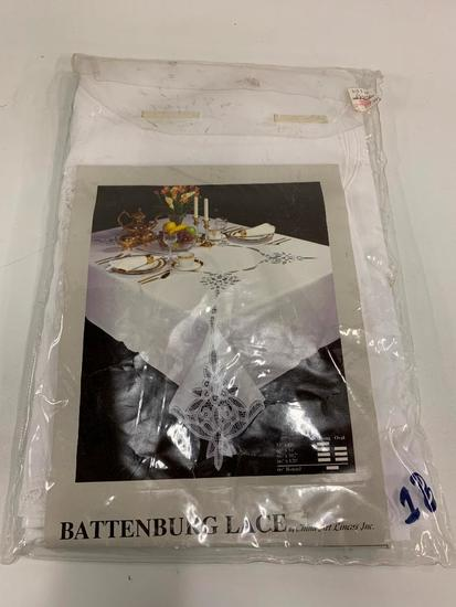 Battenburg Lace Table Cloth In Package
