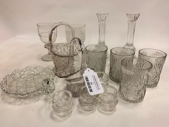 Nice Group Of Vintage Pressed Glass