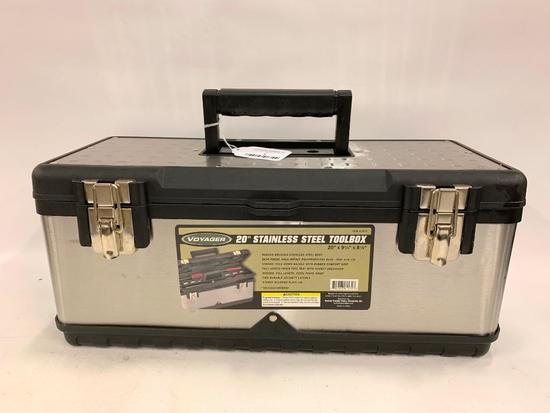 """Voyager 20"""" Stainless Steel Toolbox"""