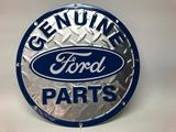 Contemporary, 12 Inch Diameter, Ford Genuine Parts, Metal Sign