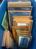 (20) Wooden Picture Frames In Tote