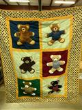 Crib Quilt W/Teddy Bears