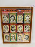 Framed 1970's Dodgers Baseball Cards