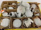 Large Group Vintage Japanese Porcelain In White