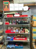 Entire Rack Of Christmas Figurines, Lights, Displays, & More!
