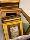 (20)+ Wooden Picture Frames-Some Have Prints