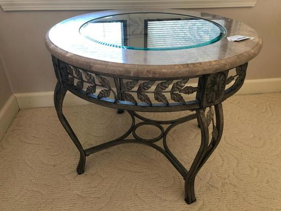 Iron & Glass Decorator Table