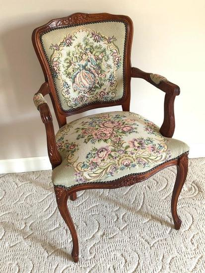 Tapestry Pattern Arm Chair