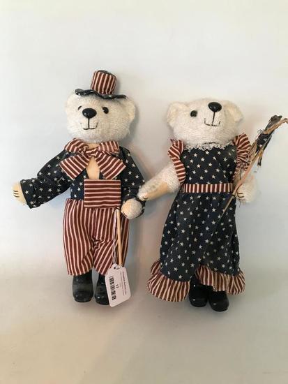 (2) Patriotic Teddy Bears