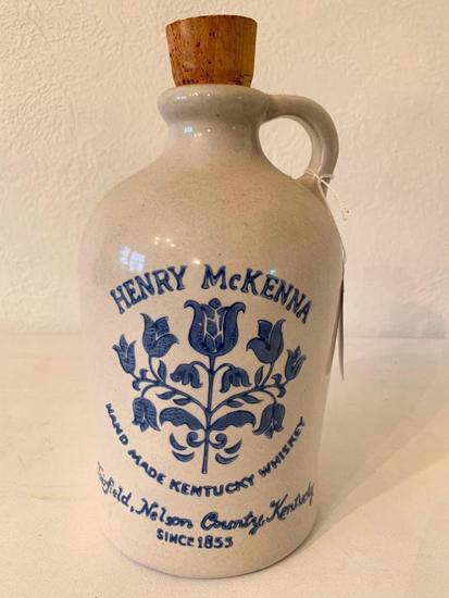 """Henry McKenna Kentucky Whiskey"" Jug W/Cork Top"