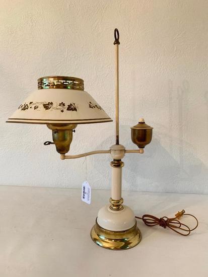 Vintage Table Lamp W/Tin Shade