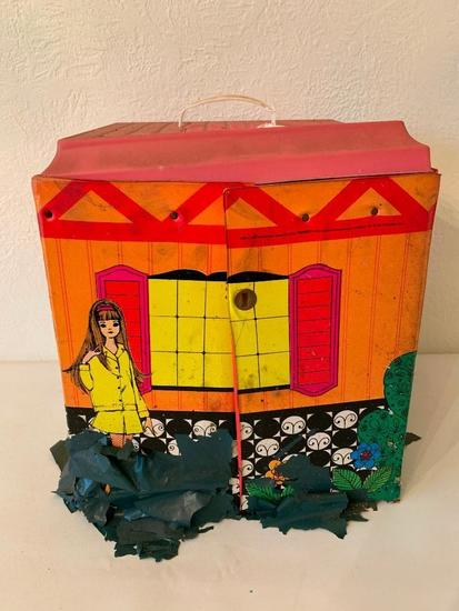 1968 Barbie Family House W/Furniture
