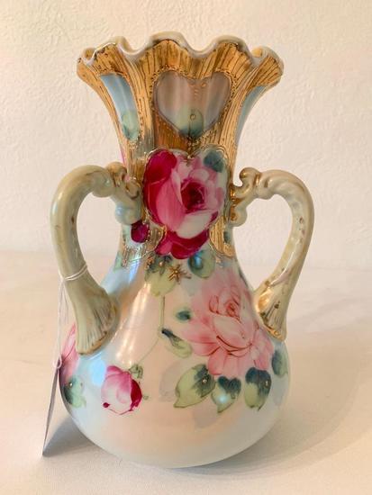 """Vintage...""""Royal Hinode, Nippon"""" Hand Painted Vase"""