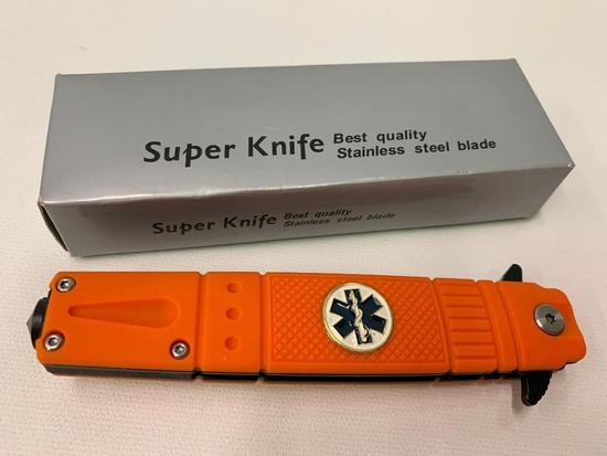 """Tac-Force """"EMT"""" Model Folding Knife-Mint In Box"""