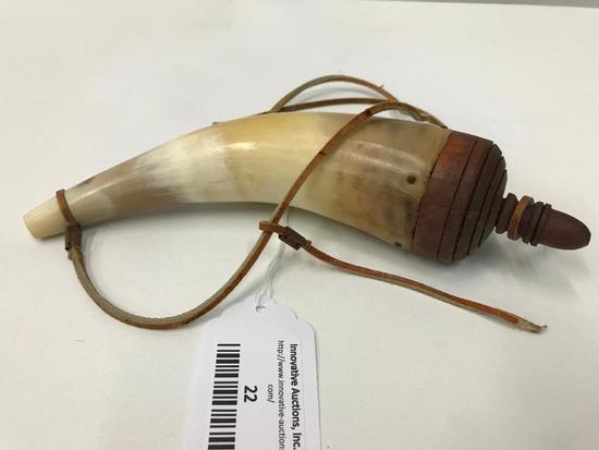 Powder Horn W/Leather Strap