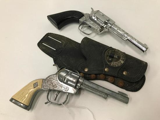 Vintage Hubley Cap Gun In Lone Ranger Holster + Pony Boy Pistol