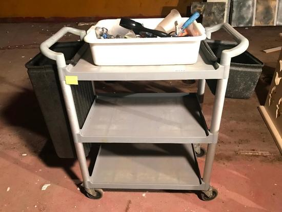 Roll-Around Cart & Contents