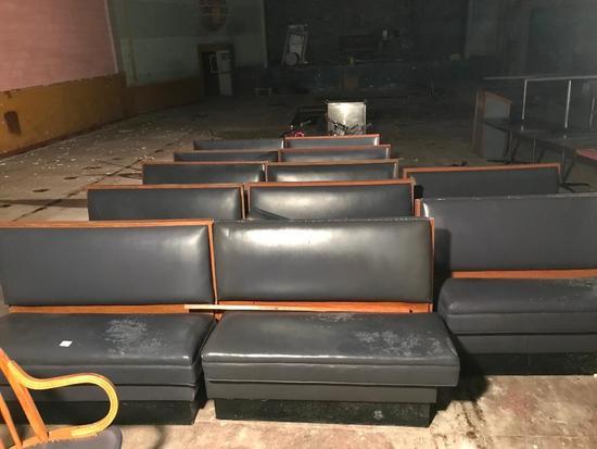 (11) Restaurant Double Bench Seats
