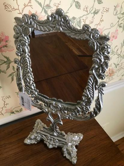 Contemporary Embossed Frame Dresser Mirror