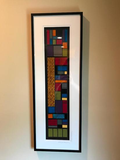 Karyn Debrasky 3-D Framed Artwork Done W/Paper
