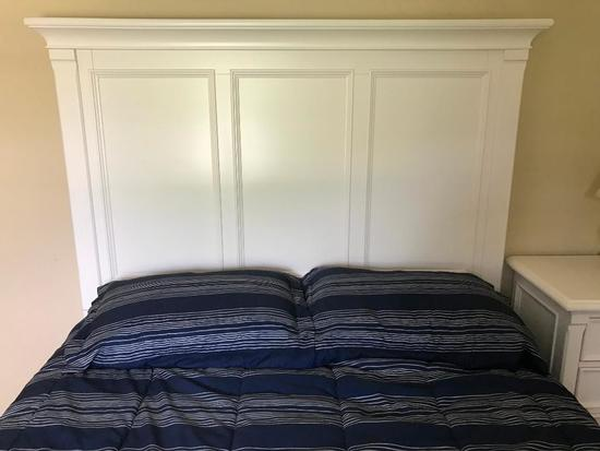 Queen Size Bed W/Mattress & Box Springs & Headboard
