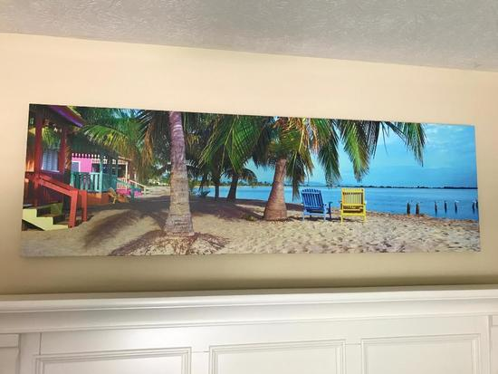 Photo On Canvas Of Beach Scene By Steve Vaughn