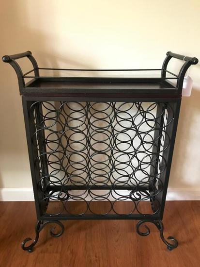 Wood & Iron Wine Rack
