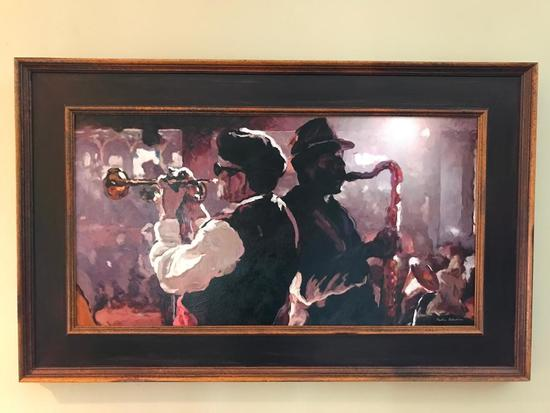 Oil On Canvas Of Jazz Musicians