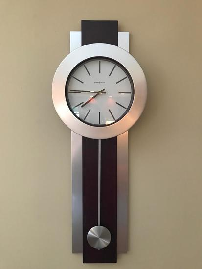 Contemporary Howard Miller Wall Clock