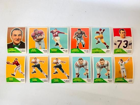 (12) 1960 Fleer Football Cards-A Few Duplicates