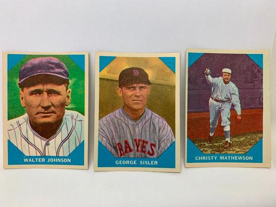 (3) 1960 Fleer Baseball Greats Cards