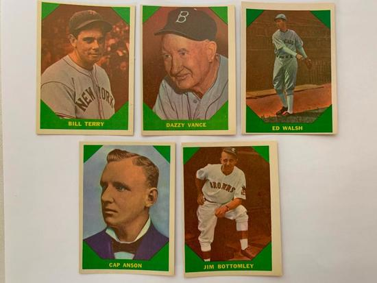 (5) 1960 Fleer Baseball Greats Cards
