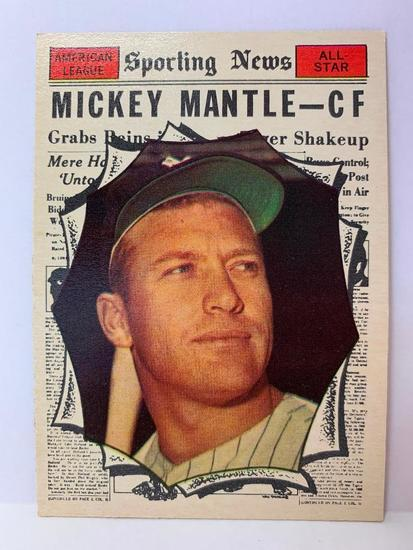 Topps 1961 #578 Mickey Mantle