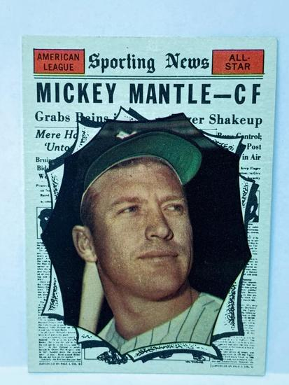 1961 Topps #578 Mickey Mantle