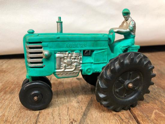 Vintage Auburn Rubber Tractor W/Driver