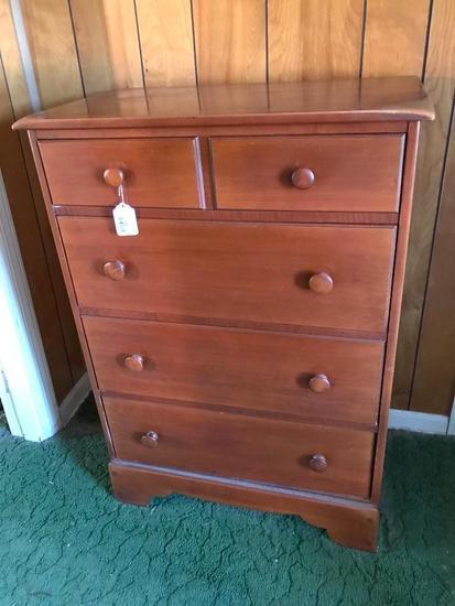 Vintage Maple 4-Drawer Chest