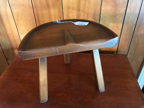 Pine Milking Stool W/Saddle Seat