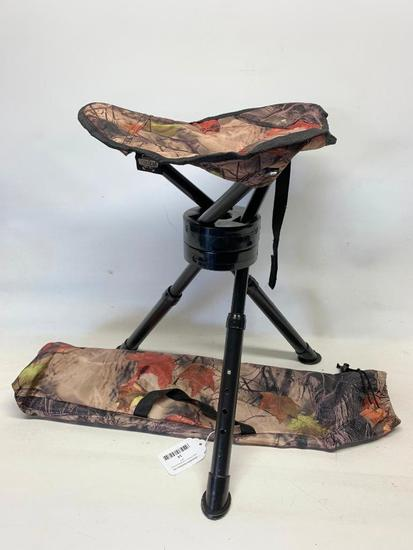 Tripod Adjustable Fold-Up Stool In Bag